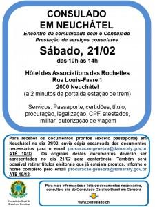 Consulado em Neuchâtel fev2015